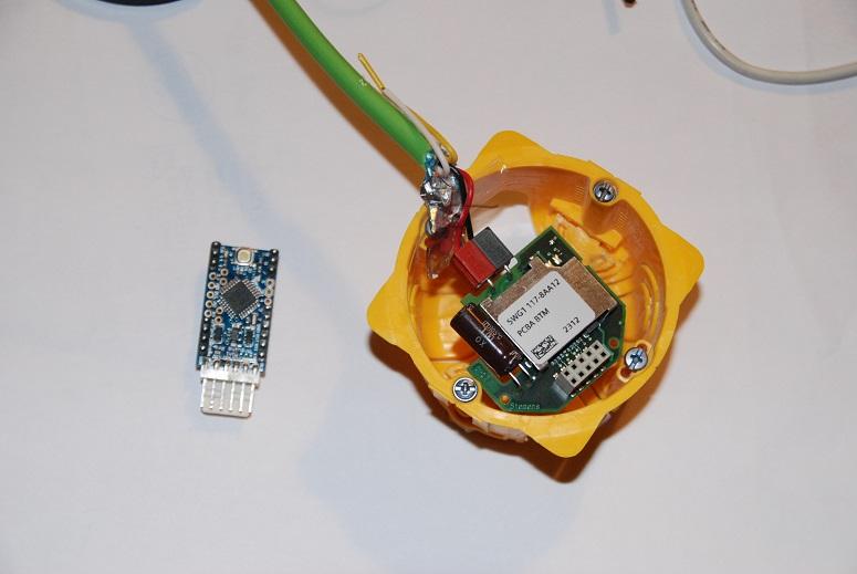 Mini Pro and TPUART board